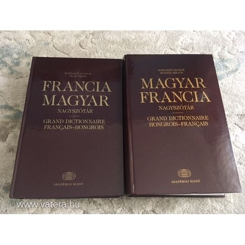 Dictionnaire Francais Hongrois Francia Magyar Keziszotar