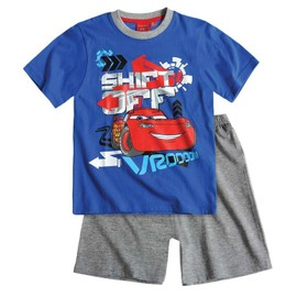 disney cars pyjama ou tenue de jour court bleu t shirt short officiel enfant gar on nouvelle. Black Bedroom Furniture Sets. Home Design Ideas