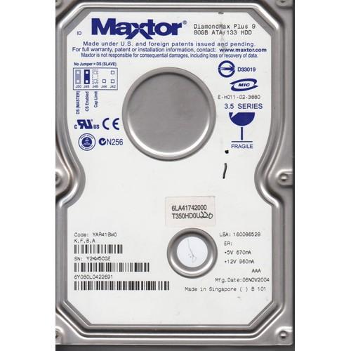 disque dur maxtor 6y080p0422211 80gb 7200rpm 3 5 ide yar41bw0 nmga. Black Bedroom Furniture Sets. Home Design Ideas