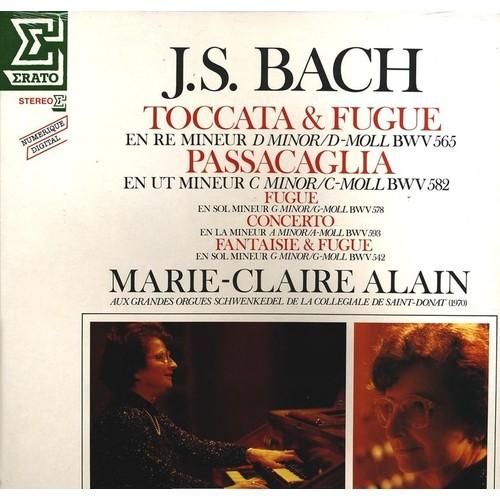 disque vinyle 33t joue les grandes oeuvres pour orgue de bach toccata adagio et fugue en do. Black Bedroom Furniture Sets. Home Design Ideas