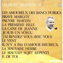 Disque vynile 33t les amoureux des bancs publics brave margot pauvre martin la premiere - Les amoureux des bancs publics brassens ...