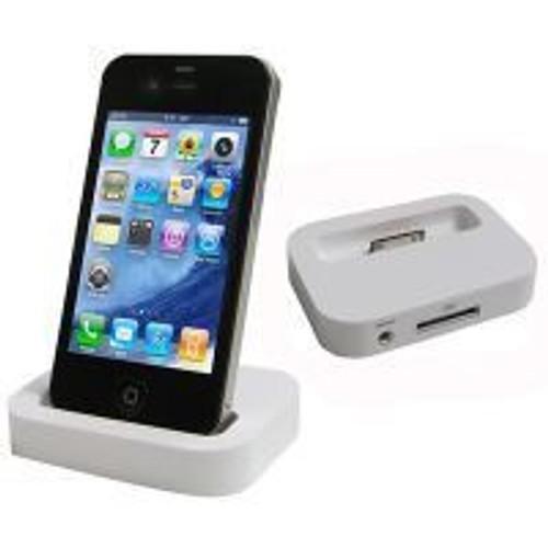 dock blanc station de charge chargeur pour iphone 4 pas cher. Black Bedroom Furniture Sets. Home Design Ideas