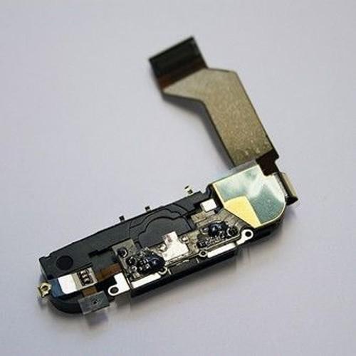 dock connecteur de charge noir avec nappe et micro pour iphone 4s. Black Bedroom Furniture Sets. Home Design Ideas