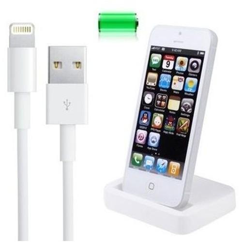 dock station de recharge pour iphone 5 5s se 5c blanche. Black Bedroom Furniture Sets. Home Design Ideas