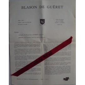 Document Philat�lique De La Poste 1964 N�2 : Timbre Du Blason De Gu�ret (Creuse).