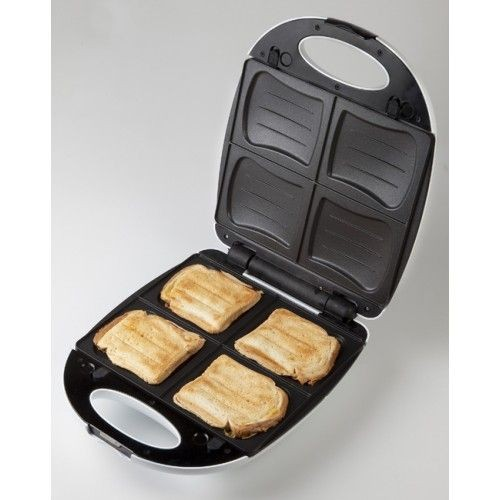 Domo do 9046 c croque monsieur gaufres plaque de 4 for Domon electromenager