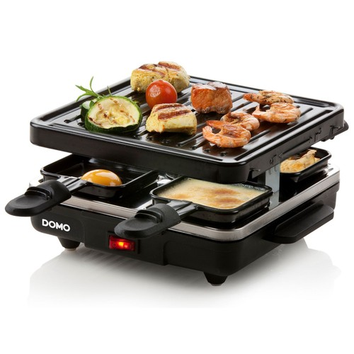 domo do9147g appareil raclette 39 just us 39 4 personnes. Black Bedroom Furniture Sets. Home Design Ideas