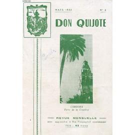 Don Quijote, Revue Mensuelle Pour Apprendre A Lire L'espagnol Couramment, N� 6, Mars 1952 (Cordoba) de COLLECTIF