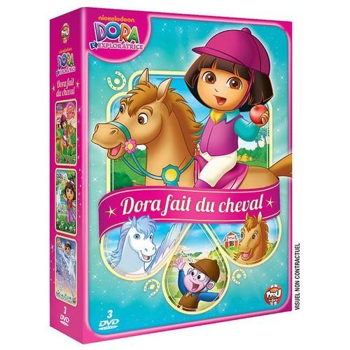 Dora l 39 exploratrice coffret dora fait du cheval dora fait du poney dora et la for t - Dora princesse des neiges ...