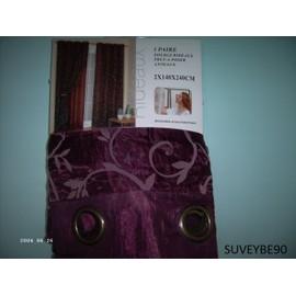 double rideaux violet prune 2 140 240 doublon neuf oriental. Black Bedroom Furniture Sets. Home Design Ideas