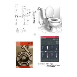 douchette wc hygiene oriental acier et polymere blanc achat et vente. Black Bedroom Furniture Sets. Home Design Ideas