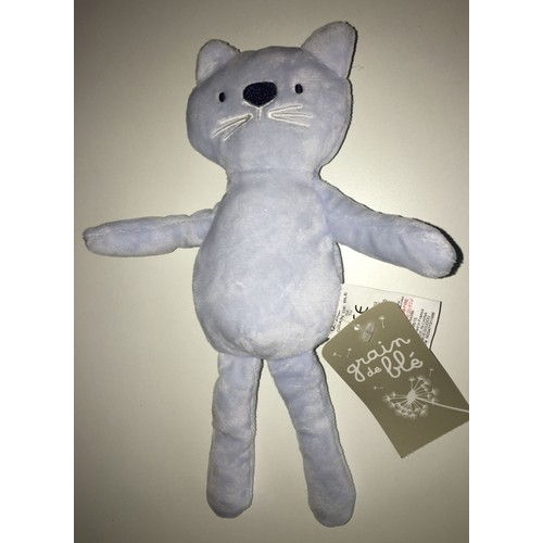 jouet chat bleu