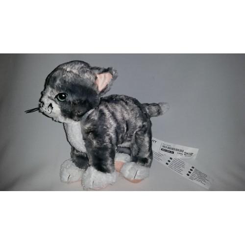 doudou chat chaton tigr ikea gris noir blanc rose jouet bebe naissance peluche veil enfant. Black Bedroom Furniture Sets. Home Design Ideas