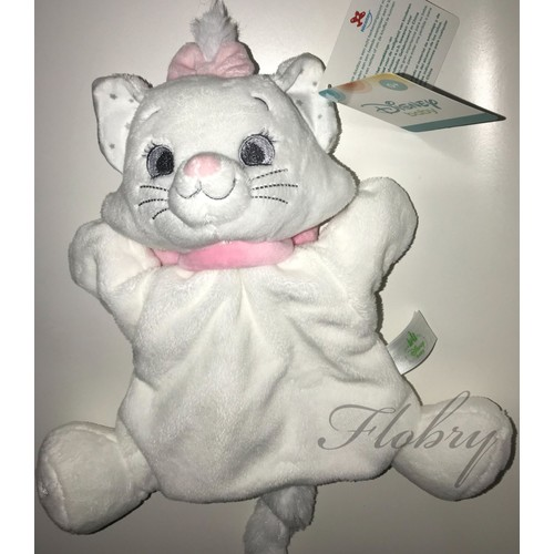 doudou chat marie les aristochats blanc rose marionnette disney baby nicotoy simba toys benelux jouet peluche bebe - Aristochats Marie