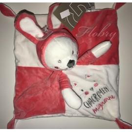 d500c994311 Doudou Chat Plat Blanc Rose Capuche Oreilles Lapin Chacrément Mignonne Simba  Toys Benelux Peluche Jouet Eveil. Favoris Alerte prix. Partage