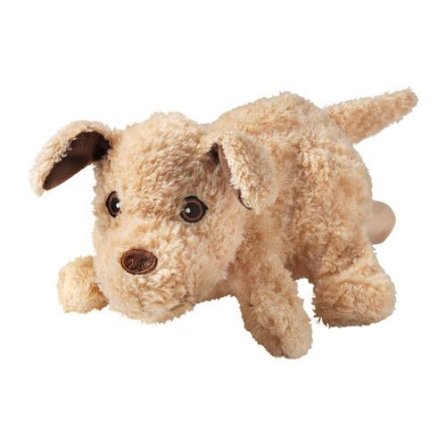 doudou chien gant marionnette ikea hundtass beige peluche chiot enfant jouet cadeau. Black Bedroom Furniture Sets. Home Design Ideas