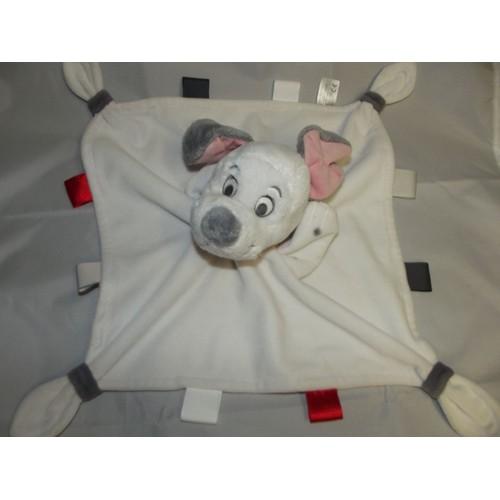 Doudou disney store disneystore chien dalmatien blanc gris noir rouge tiquette peluche marionnette - Frais de port gratuit disney store ...