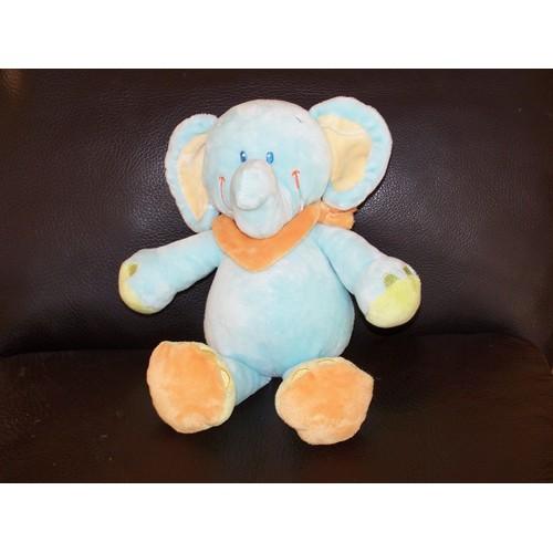 Doudou Elephant Nicotoy Kiabi Bleu Foulard Orange - Achat et vente e7625c06f95