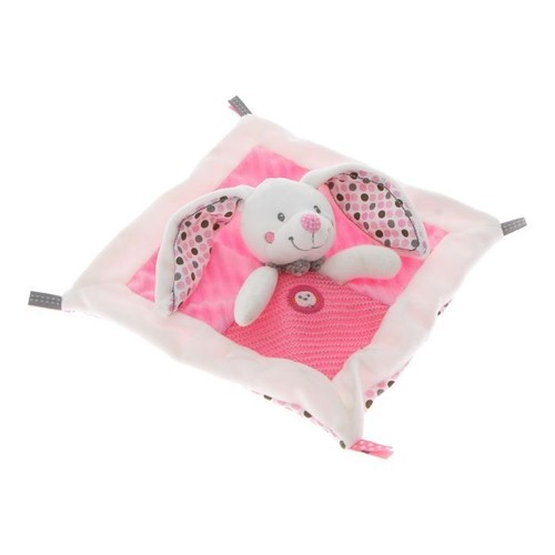 doudou lapin rose et blanc nicotoy plat jouet naissance eveil bebe jouet fille lapinou. Black Bedroom Furniture Sets. Home Design Ideas