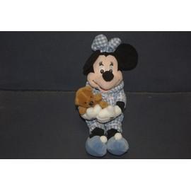Doudou Minnie En Pyjama Avec Son Ours