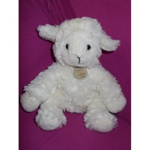doudou mouton agneau ecru creme blanc casse 18cm doudou et. Black Bedroom Furniture Sets. Home Design Ideas