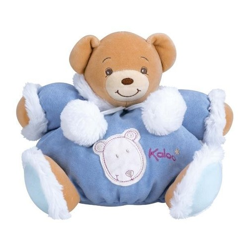 doudou ours ourson kaloo esquimau collection igloo patapouf bleu blanc marron brun moyen 25 cm. Black Bedroom Furniture Sets. Home Design Ideas