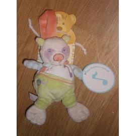 Doudou Pantin Note Musical Musique Pandy Le Panda Babynat Baby Nat