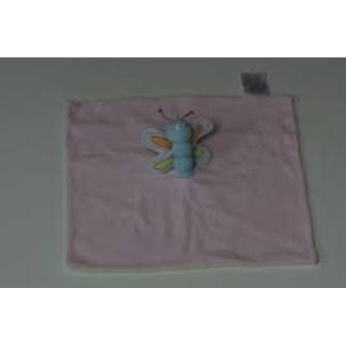 bb2be62628fcde Doudou Papillon Plastitemple Popvet Rose Bleu Vert - Achat et vente