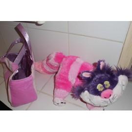 doudou peluche cheshire chester le chat fou d 39 alice aux pays des merveilles disney store 47 cm rose. Black Bedroom Furniture Sets. Home Design Ideas