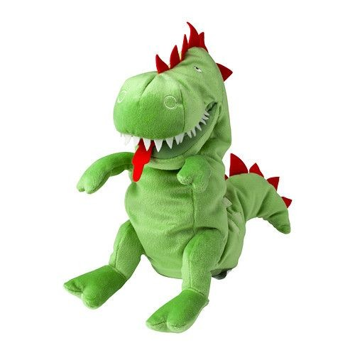 doudou peluche l skig marionnette dragon vert ikea neuf et