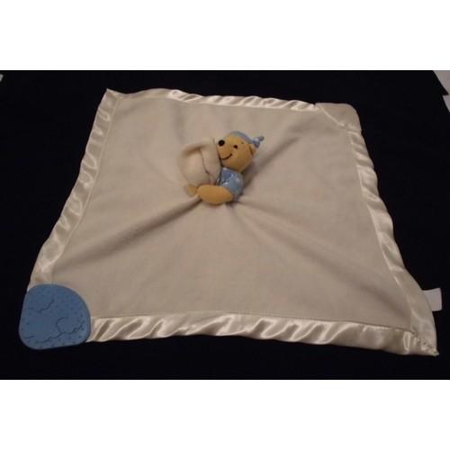 doudou peluche plat couverture winnie the pooh l 39 ourson. Black Bedroom Furniture Sets. Home Design Ideas