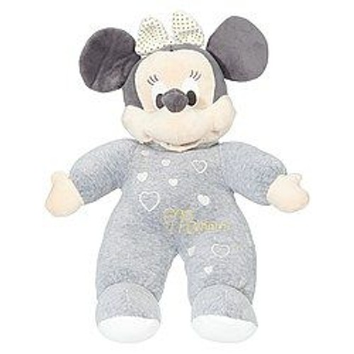 doudou souris minnie disney gris blanc coeur peluche minnie mouse capuche nicotoy 34cm jouet. Black Bedroom Furniture Sets. Home Design Ideas
