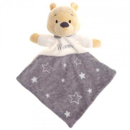 Doudou t te winnie disney baby nicotoy blanc gris toiles ourson ours bear bar orso simba toys - Tete winnie l ourson ...