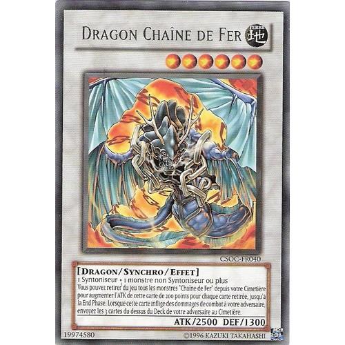 Dragon Chaîne De Fer - Yu-Gi-Oh! - Csoc-Fr040 - R neuf et ...
