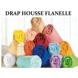 Draps housse flanelle 100 pur coton gratt douceur 140cm for Draps housse flanelle