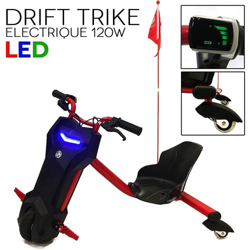 drift trike tricycle electrique 120w led rouge neuf et d 39 occasion. Black Bedroom Furniture Sets. Home Design Ideas