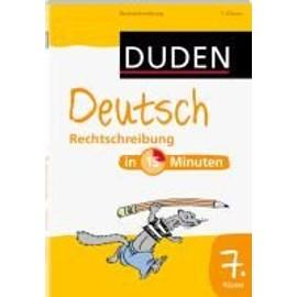 Duden Deutsch In 15 Minuten Rechtschreibung 7 Klasse Rakuten