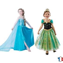 duo robe elsa anna la reine des neiges enfant dguisement costume frozen premium - Robe Anna Reine Des Neiges
