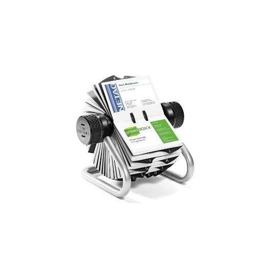 Durable 248123 Fichier Rotatif Pour Carte De Visite Visifix Argent
