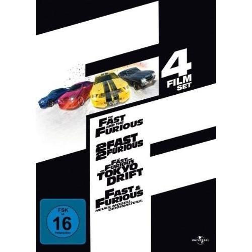 dvd fast and furious box 1 4 import allemand import coffret de 4 dvd achat et. Black Bedroom Furniture Sets. Home Design Ideas