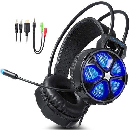 Easysmx Cool 2000 Casque Micro Gaming Antibruit Led Basse Ps4 Pc
