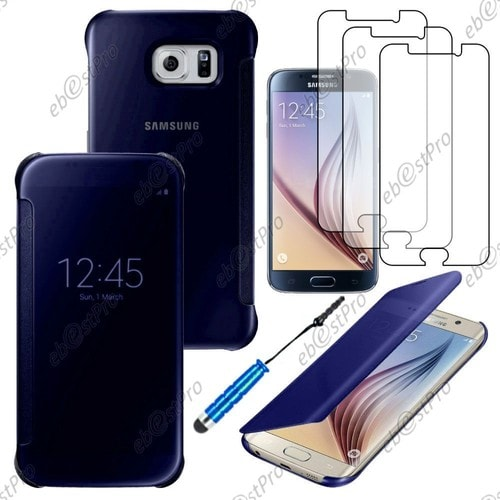 ebeststar housse coque etui view clear cover miroir pour samsung galaxy s6 edge sm g928f. Black Bedroom Furniture Sets. Home Design Ideas