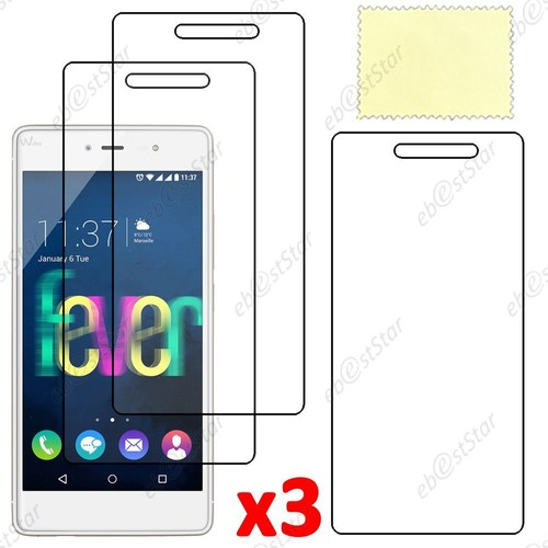 ebeststar lot x3 protection film d 39 cran anti rayures anti traces pour wiko fever 4g. Black Bedroom Furniture Sets. Home Design Ideas
