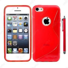 ebestStar ® pour Apple iPhone SE 5S 5 - Housse Etui Coque Silicone Gel Motif S-line Protection Souple Stylet, Couleur Rouge [Dimensions PRECISES de ...