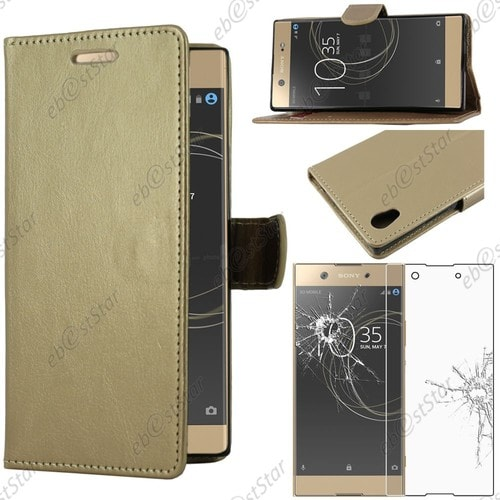 ebeststar pour sony xperia xa1 ultra 2017 housse etui portefeuille simi cuir film. Black Bedroom Furniture Sets. Home Design Ideas
