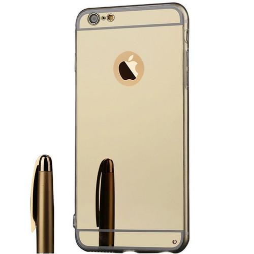 Ebuy coque de iphone 7 4 7 miroir tpu doux or pas cher for Coque iphone 7 miroir