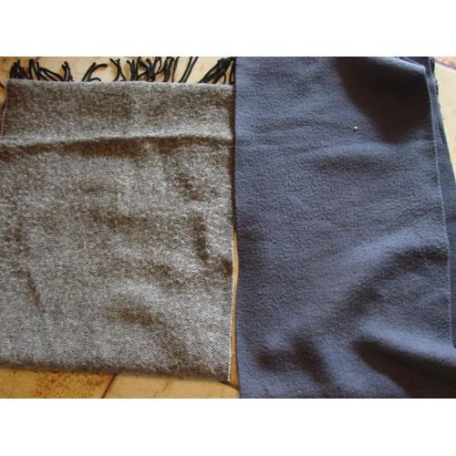 Écharpe Polaire Décathlon Polyester, Bleu Foncé, 1m70x22cm, Avec Une Écharpe  Pied De Poule Noir Et Gris ... 36f72fc4adb