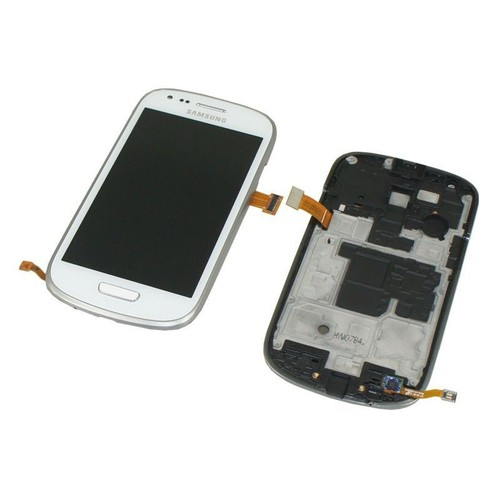 ecran complet lcd tactile pour samsung i8190 galaxy s3 mini blanc neuf. Black Bedroom Furniture Sets. Home Design Ideas