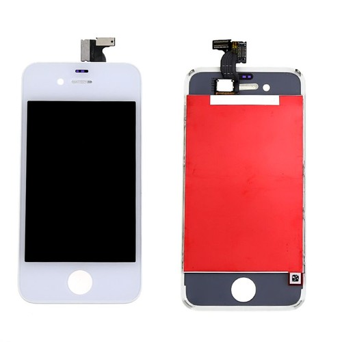 ecran complet vitre tactile lcd retina chassis blanc pour iphone 4s neuf. Black Bedroom Furniture Sets. Home Design Ideas
