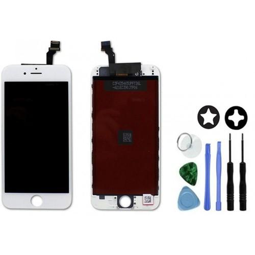 ecran lcd d 39 origine avec vitre tactile sur ch ssis pour iphone 6 blanc. Black Bedroom Furniture Sets. Home Design Ideas